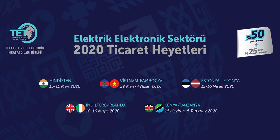 2020 Sektörel Ticaret Heyetleri Duyurusu